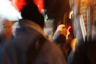 Photographer Mitchell Louis, 31, walks to a tshirt branding meeting at The Flat in Brooklyn, NYC, 02/07/2014 ©Sumi Naidoo, 2014