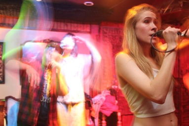 Hand Job Academy perform at a bar called The Flat during Cherry Bomb in Brooklyn, NYC 03/08/2014 ©Sumi Naidoo, 2014