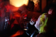 Rapper Contessa Stuto performs in a bar called The Flat during a Cherry Bomb party in Brooklyn, NYC 02/07/2014 ©Sumi Naidoo
